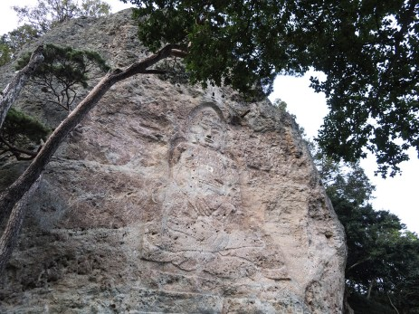 Buddha Carved in Mountain