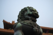 Lion Statue at Forbidden City