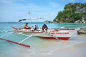 Water Taxi on White Beach