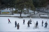 Soldiers on Vacation at Mt. Myohyang