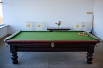Billiards Table at Local Rest Stop
