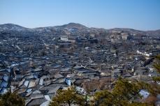 Overlooking the Hanok Village in Kaesong